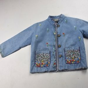 Vintage Papy Boez Kids - Hand Embroidered  Jacket